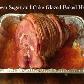 Brown Sugar and Coke Glazed Baked Ham.