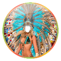 Woman Carnival Photo Montage icon