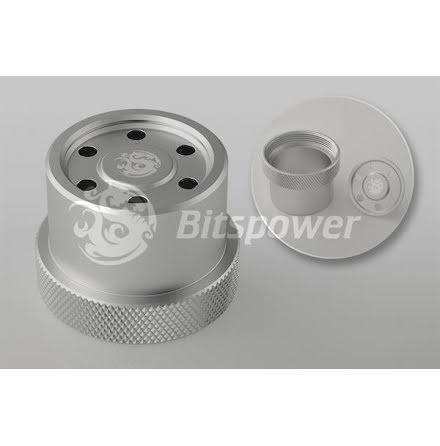 Bitspower deksel for Laing D5 baserte pumper, matt sølv