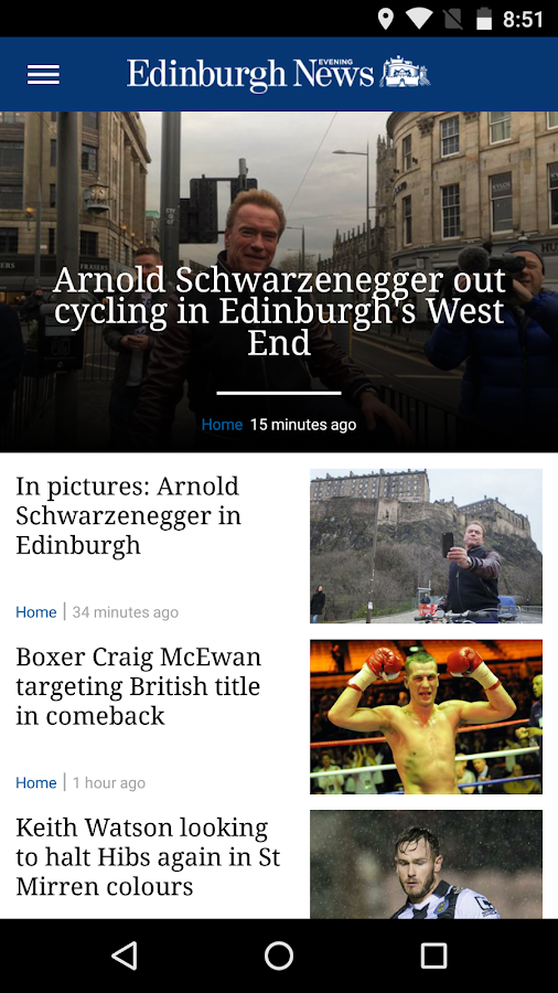 Edinburgh Evening News- screenshot