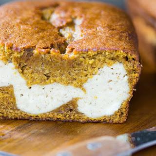 Pumpkin Bread Stuffed with Chai Cheesecake
