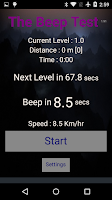 Screenshot of Beep Test