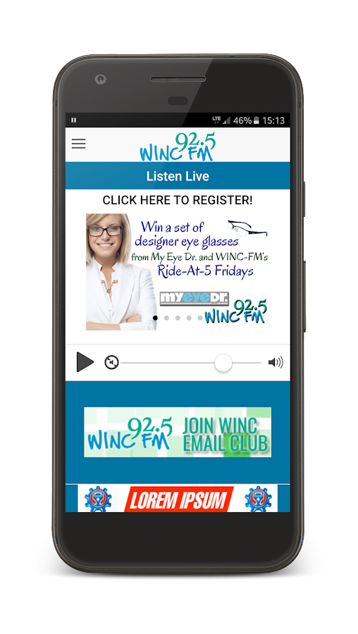 WINC FM 92.5- screenshot