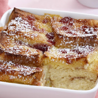 Plum Bread Pudding.
