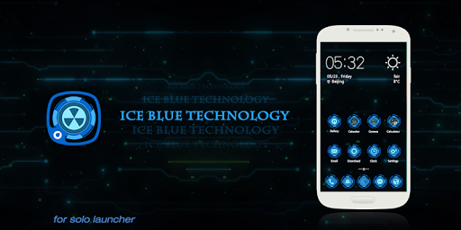 Ice Blue Technology-Solo Theme