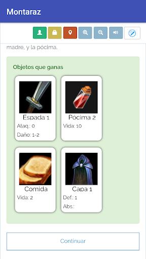 Biblioteca Libro Juegos de rol interactivos screenshot 6