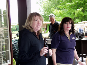 Photo: Christine Kemp, Adam Beales (enjoying the view), & Cynthia Gillis (unaware)
