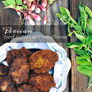 Persian Beef Cutlets with Potatoes and Cauliflower