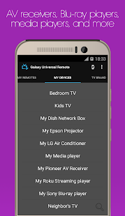 Galaxy Universal Remote Screenshot