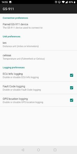 GS-911 Bluetooth screenshot