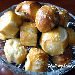 Homemade Soft Pretzel Bites.