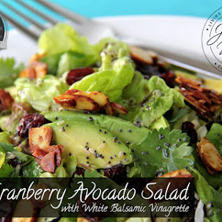 Cranberry Avocado Salad with White Balsamic Vinaigrette