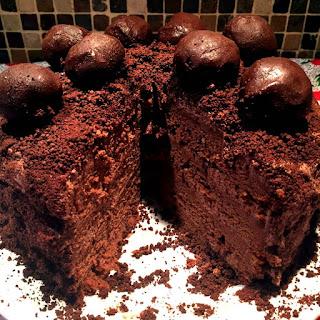 Homemade Chocolate Truffle Cake.