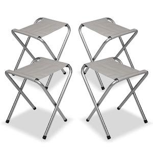 Set 4 scaune pliabile pentru camping