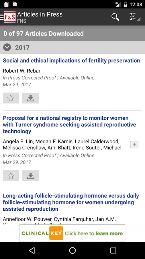 Fertility and Sterility®- screenshot