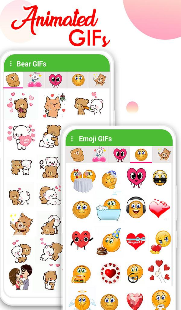 Скриншот WAStickerApps: Emoji Love Stickers for whatsapp