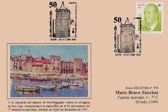 Photo: Matasellos del 50 aniversario del grupo filatélico y numismático de Gijón