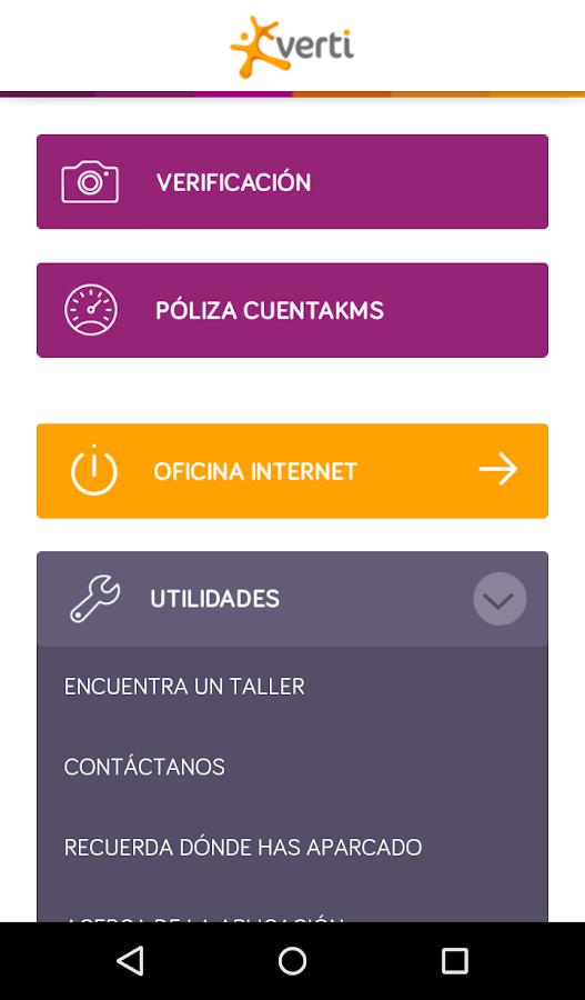 Verti seguros aplicaciones de android en google play for Oficina internet verti