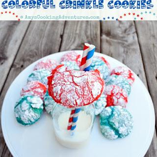 Colorful Crinkle Cookies