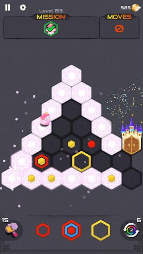 Princess and Zombies -Puzzle Hexa Blast apktram screenshots 2