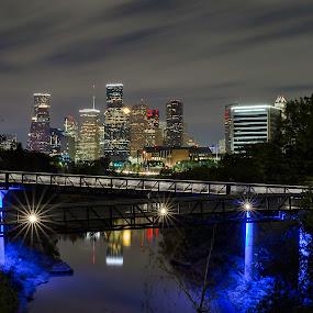 Nighty night Houston! by Torsten Funke - City,  Street & Park  Skylines ( skylines, city, night, cityscapes, city park, photo, skyline, houston, nightscape, cityscape, big city lights, travel, nightscapes, photography, night photography )