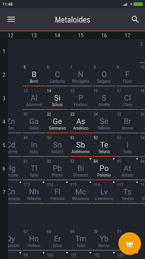 Tabla peridica 2018 aplicaciones de android en google play tabla peridica 2018 captura de pantalla urtaz Choice Image