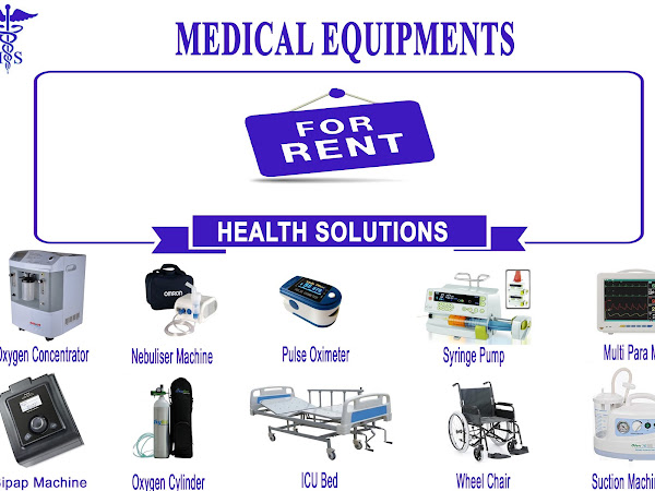 Health Solutions - Oxygen Concentrator Cylinder on rent