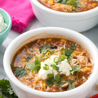 Slow Cooker Mexican Chicken and Rice Soup.
