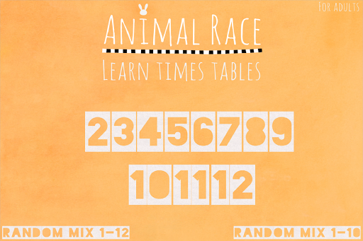Learn Times Tables Animal Race
