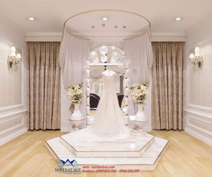 trang trí thiết kế studio áo cưới đẹp