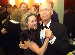 Photo: DAVOS/SWITZERLAND,27JAN01 - Founder and President of the World Economic Forum Klaus Schwab and his wife Hilde dance at the Gala Soiree at the Annual Meeting 2001 of the World Economic Forum in Davos, January 27, 2001. Byline: swiss-image.ch/Photo by Andy Mettler NO RESALES, NO ARCHIVES