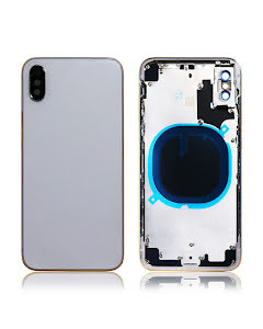 iPhone X Back Housing without logo High Quality Silver
