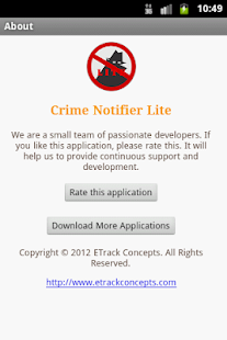 Crime Notifier Lite- screenshot thumbnail