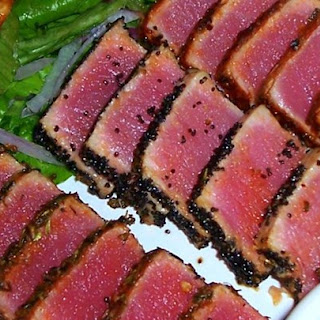 Seared Ahi Tuna Steaks.