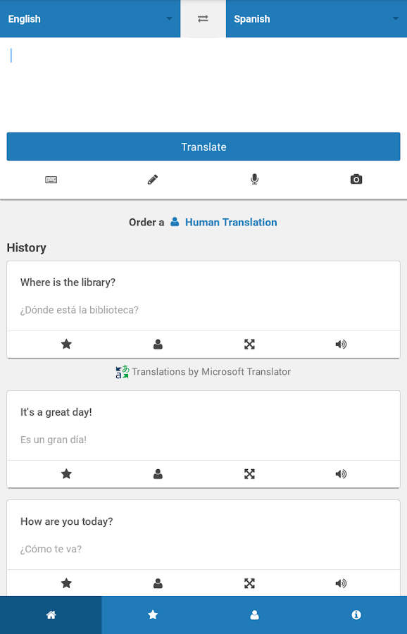 Translate.com App- screenshot