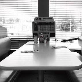 Diner by Chris Montcalmo - Food & Drink Eating ( colorsplash, food, indoors, diner )