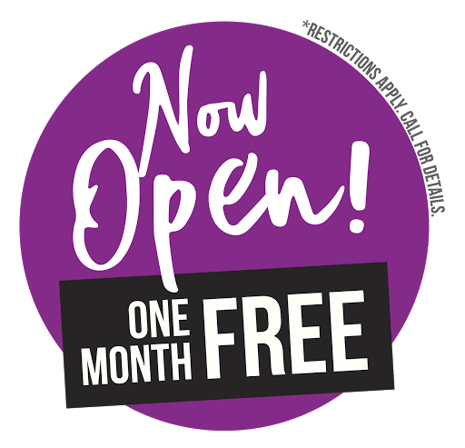 Now Open + One Month Free!