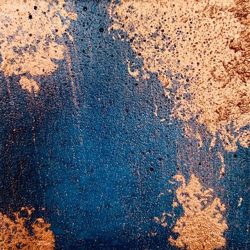 béton bleu pétrole patine cuivrée