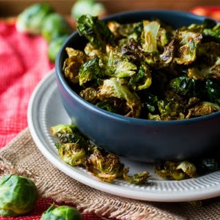 Fried Brussels Sprout Leaves with Lemon and Chili Flakes.