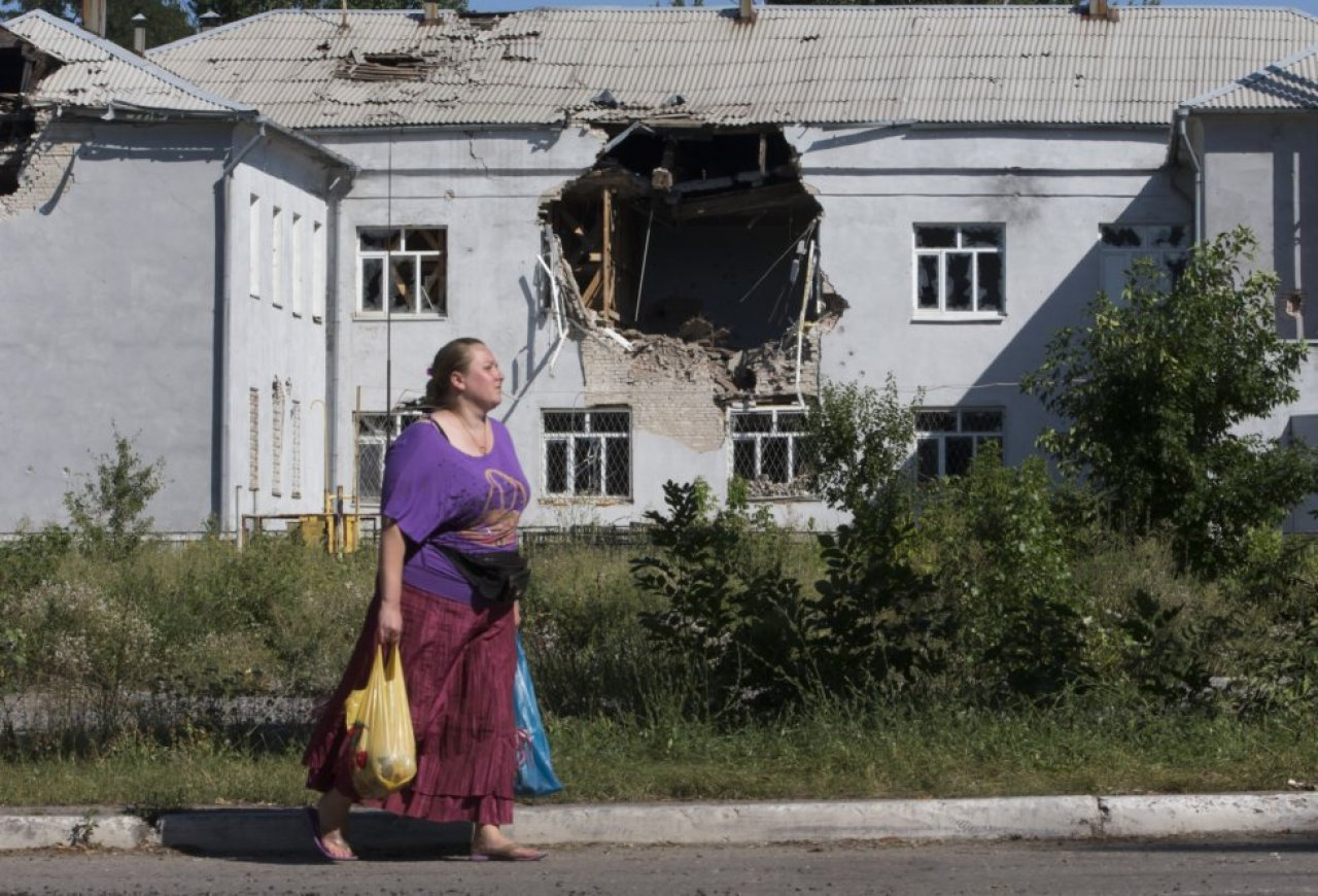 Город Лисичанск в Луганской области на востоке Украины в 2014 году. / Фото: TASR/AP