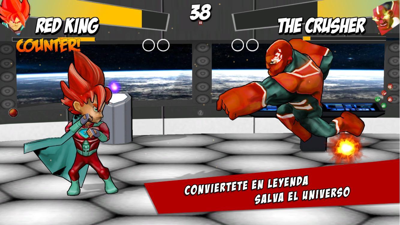 Juego de lucha Super Heroes: captura de pantalla