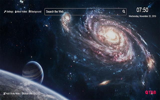 Galaxy Wallpapers Galaxy New Tab HD