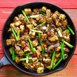 Spicy Black Pepper Tofu.