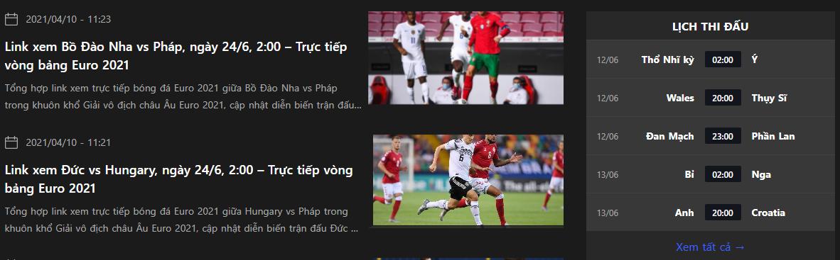 Thông tin bóng đá mới nhất trong ngày đều được cập nhập một cách đầy đủ