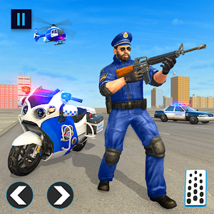 US Police Bike 2019 - Gangster Chase for pc