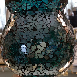 Stained glass vase by Maricor Bayotas-Brizzi - Artistic Objects Glass (  )