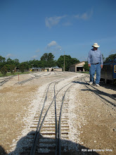 Photo: Bill Howe installed the passenger station bypass track this last week.  HALS 2009-0620