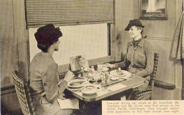 Before Amtrak dining cars