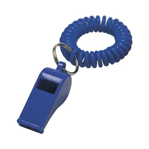 Whistle with Spiral Wrist Cord