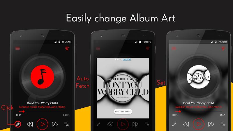 Crimson Music Player - MP3, Lyrics, Playlist Screenshot 3